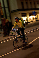 commuting cyclists London the Strand..March 2009..pic copyright Steve Behr / Stockfile..