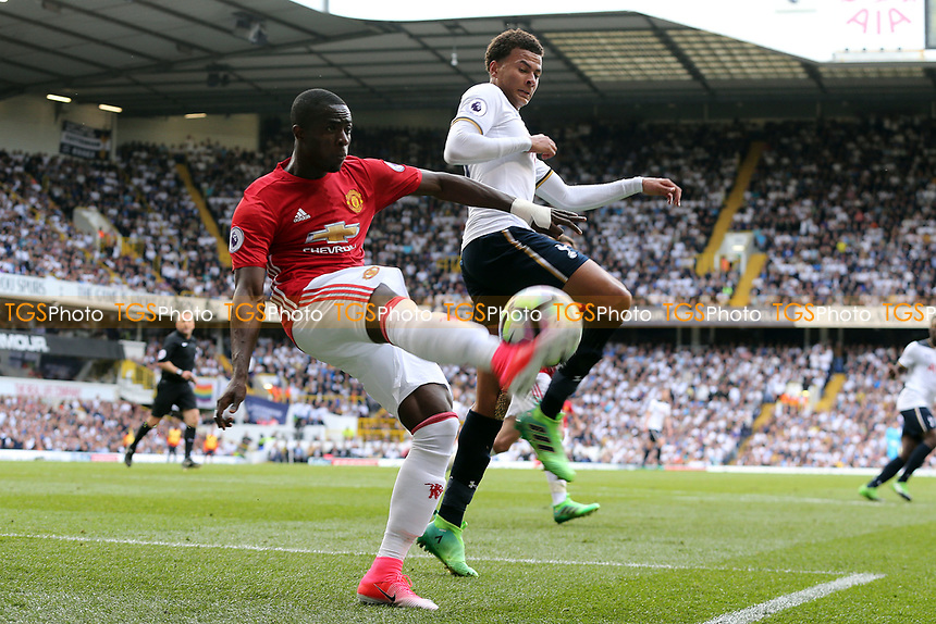 Dele Alli of Tottenham Hotspur and Axel Tuanzebe of Manchester United during Tottenham Hotspur vs Manchester United, Premier League Football at White Hart Lane on 14th May 2017