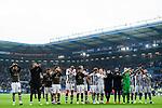 04.11.2018, Sch&uuml;coArena / Schueco Arena, Bielefeld, Deutschland, GER, 2. FBL, DSC Arminia Bielefeld vs. FC St. Pauli<br /> <br /> DFL REGULATIONS PROHIBIT ANY USE OF PHOTOGRAPHS AS IMAGE SEQUENCES AND/OR QUASI-VIDEO.<br /> <br /> im Bild Jubel St. Pauli nach Sieg<br /> <br /> Foto &copy; nordphoto / Kurth