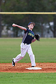 Will Roche (1) of Marshfield, Massachusetts during the Baseball Factory All-America Pre-Season Rookie Tournament, powered by Under Armour, on January 13, 2018 at Lake Myrtle Sports Complex in Auburndale, Florida.  (Michael Johnson/Four Seam Images)