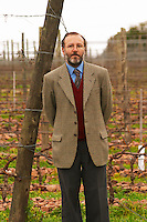Juan Luis Bouza, owner in front of one of his Tannat vineyards. Bodega Bouza Winery, Canelones, Montevideo, Uruguay, South America