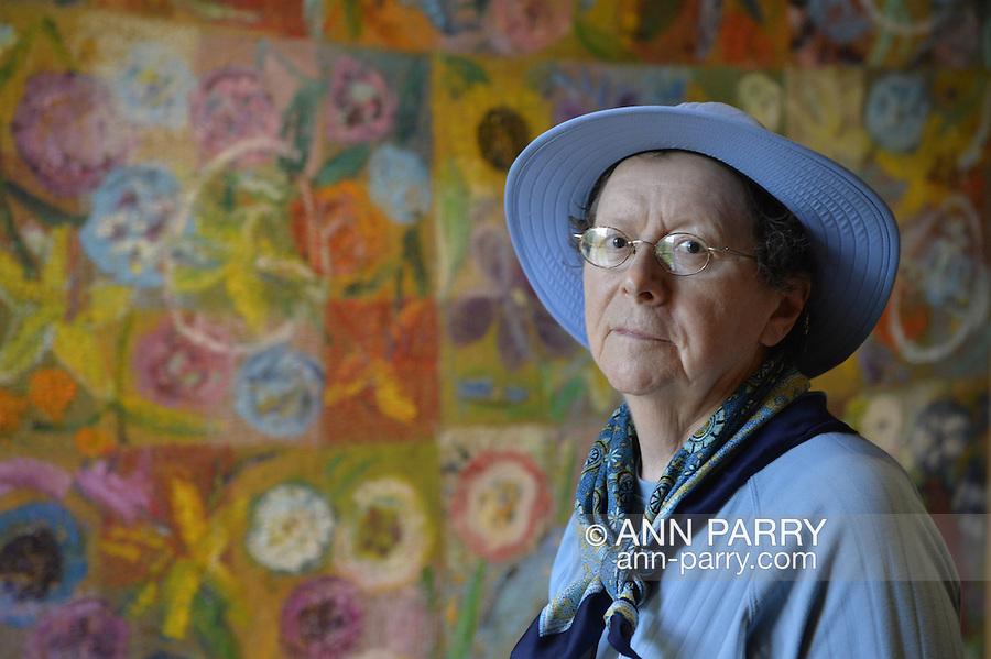 Cleonice Tavani visits Nassau County Museum of Art, Roslyn Harbor, Long Island, New York, USA, on May 18, 2014
