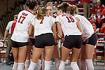 MADISON, WI - OCTOBER 12: The Wisconsin Badgers volleyball team against the Northwestern Wildcats at the Fieldhouse on October 12, 2005 in Madison, Wisconsin. The Badgers beat the Wildcats 3-0. Photo by David Stluka.