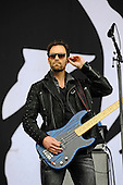 HALESTORM - bassist Josh Smsith - performing live on Day Three on the Lemmy Stage at the Download Festival at Donington Park UK - 12 Jun 2016.  Photo credit: Zaine Lewis/IconicPix