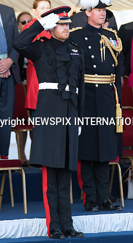 15.06.2017, London; UK: PRINCE HRRY<br />took the salute as The Massed Bands of the Household Division and Canada performed a musical display of military horsemanship, precision drill, pageantry, gunfire and fireworks.<br />This was the final performance of the Household Division&rsquo;s Beating Retreat, which this year featured The Royal Canadian Artillery Band who will perform Changing of the Guard at the Royal Palaces with the Canadian Princess Patricia&rsquo;s Light Infantry from Sunday 18th June as part of the Canada 150th celebrations.  <br />Mandatory Credit Photo: &copy;MoD/NEWSPIX INTERNATIONAL<br /><br />IMMEDIATE CONFIRMATION OF USAGE REQUIRED:<br />Newspix International, 31 Chinnery Hill, Bishop's Stortford, ENGLAND CM23 3PS<br />Tel:+441279 324672  ; Fax: +441279656877<br />Mobile:  07775681153<br />e-mail: info@newspixinternational.co.uk<br />*All fees payable to Newspix International*