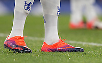 Kurt Zouma of Chelsea football boots during the The Checkatrade Trophy match between Chelsea U23 and Oxford United at Stamford Bridge, London, England on 8 November 2016. Photo by Andy Rowland.
