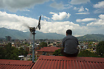 Amrit Singh Thapa, Managing Director of Mirlung Electro-Mech Concern(MEC) looks down on the sprawling city of Kathmandu. Amrit is pushing wind  energy development in Nepal. He is incredibly passionate about his work and the need for Nepal to embrace a future complete with Wind Energy.