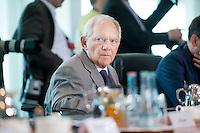 Berlin, Bundesfinanzminister Wolfgang Schaeuble (CDU) am Mittwoch (01.07.2015) im Bundeskanzleramt vor der Kabinettssitzung. Foto: Steffi Loos/CommonLens