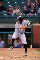 Jacksonville Suns first baseman Ryan Rieger (23) at bat during a game against the Chattanooga Lookouts on April 30, 2015 at AT&T Field in Chattanooga, Tennessee.  Jacksonville defeated Chattanooga 6-4.  (Mike Janes/Four Seam Images)