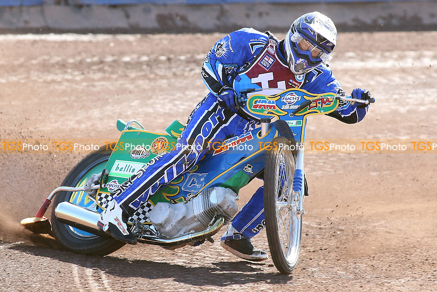 Lubos Tomicek of Lakeside Hammers in riding action - Lakeside Hammers Speedway Press & Practice Day at Arena Essex Raceway, Purfleet, Essex - 23/03/11 - MANDATORY CREDIT: Gavin Ellis/TGSPHOTO - Self billing applies where appropriate - Tel: 0845 094 6026