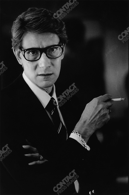 Yves Saint Laurent, fashion designer, at home, France, 1982