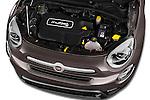 Car Stock 2017 Fiat 500X Trekking 5 Door SUV Engine  high angle detail view