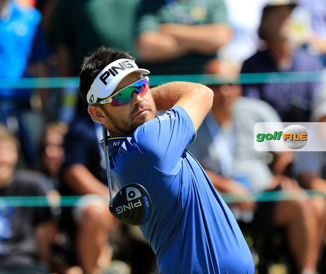 Louis Oosthuizen (RSA) tees off the 1st tee to start his match during Sunday's Final Round of the 2015 U.S. Open 115th National Championship held at Chambers Bay, Seattle, Washington, USA. 6/21/2015.<br /> Picture: Golffile | Eoin Clarke<br /> <br /> <br /> <br /> <br /> All photo usage must carry mandatory copyright credit (&copy; Golffile | Eoin Clarke)