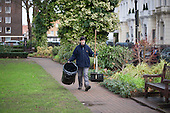 City of Westminster Parks staff, Norfolk Square Gardens, Paddington.