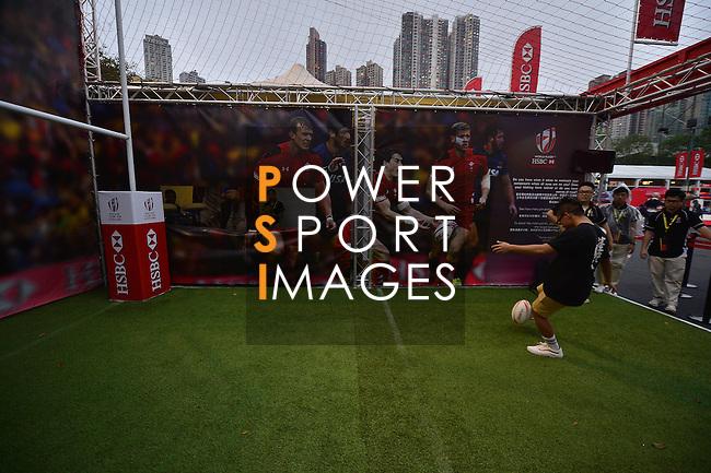 HSBC Hong Kong Rugby Sevens 2016 on 10 April 2016 at Hong Kong Stadium in Hong Kong, China. Photo by Marcio Machado / Power Sport Images