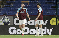 Burnley's James Tarkowski has stern words with team-mate Jack Cork following a Brighton & Hove Albion attack<br /> <br /> Photographer Rich Linley/CameraSport<br /> <br /> The Premier League - Burnley v Brighton and Hove Albion - Saturday 8th December 2018 - Turf Moor - Burnley<br /> <br /> World Copyright © 2018 CameraSport. All rights reserved. 43 Linden Ave. Countesthorpe. Leicester. England. LE8 5PG - Tel: +44 (0) 116 277 4147 - admin@camerasport.com - www.camerasport.com