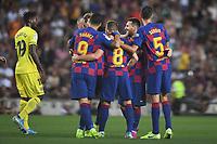 Lionel Messi, Arthur Melo, Sergio Busquets, Luis Suarez celebrate <br /> <br /> 21/01/2016 <br /> Barcelona - Villarreal <br /> Calcio La Liga 2019/2020 <br /> Photo Paco Largo Panoramic/insidefoto <br /> ITALY ONLY
