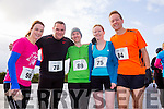 At the Puck Warriors annual 5k and 10km Jingle Run on Saturday were l-r  Vivian Juffs, Niall McGann, Rose O'Sullivan, Francis Quinn and Thomas Bubendorfer