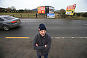 TO GO WITH BREXIT STORY BY WWILLIAM WALLIS DATE: 31 Jan 2019 - Padar MacNamee stands on the border crossing on the Dublin Road outside Newry, South Armagh, Northern Ireland. Photo/Paul McErlane