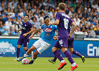 Napoli's Marek Hamsik     in action during the Italian Serie A soccer match between SSC Napoli and AC Fiorentina  at San Paolo stadium in Naples,October 18, 2015