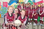 UNSTOPPABLE: Members of from Moyderwell Girls Football team represented their school at the Division One County.Final in the Austin Stack park in Tralee on Wednesday 13th June. Front l-r were: Deirdre Kearney (captain) and.Cliodhna Hayes (vice-captain). Group at the back from front l-r were: Ciara Powell, Laura Rogers, Aoife Moriarty, Rachel.Lynch and Roza Karim. Middle row l-r were: Nichola Galvin, Grace Stack, Gabrielle Browne and Michaela Heaslip. Back.l-r were: Niamh Comerford, Niamh Sheehy, Ellie Scanlan, Shauna Moriarty and Charlotte Higgins.