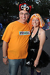 Eddie and Gretchen Hawkins at the 2010 Art Car Ball at the Orange Show Monument & Warehouse Thursday May 06,2010.  (Dave Rossman Photo)