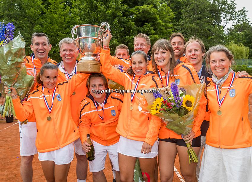 The Hague, Netherlands, 11 June, 2017, Tennis, Play-Offs Competition, Men's Doubles, Authom/Desein, Leimonias<br /> Photo: Henk Koster/tennisimages.com
