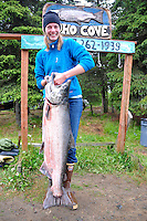 A king salmon from Alaska's Kasilof river, Alaska.