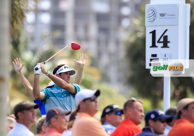 Bubba Watson (USA) during the 1st round at the WGC Cadillac Championship, Blue Monster, Trump National Doral, Doral, Florida, USA<br /> Picture: Fran Caffrey / Golffile