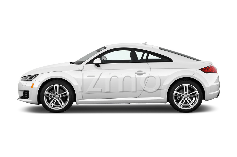Car driver side profile view of a 2018 Audi TT-Coupe  2.0T-quattro-S-tronic 2 Door Coupe