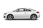 Car driver side profile view of a 2016 Audi TT-Coupe  2.0T-quattro-S-tronic 2 Door Coupe