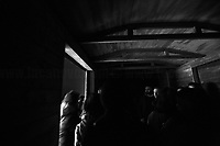 """Cattle truck.<br /> <br /> Rome, 27/01/2019. Today is the International Holocaust Day, also called Holocaust Memorial Day in UK & Italy. A day designated by the UN General Assembly resolution 60/7 on 1 November 2005 to remember the victims of the Holocaust: 6 million Jews, 2 million Gypsies (Roma & Sinti), 15,000 homosexual people, and millions of others killed by the Nazi regime and its collaborators. The 27th of January (1945) marks the day of the liberation by the Soviet Union Army of the largest death camp, Auschwitz-Birkenau (74th Anniversary). To coincide with the Holocaust Memorial Day the Palazzo delle Esposizioni presents its last experiential exhibition called Witnesses of Witnesses. Remembering and Recounting Auschwitz. From the event website: <<Following a memory trip to Auschwitz, the heart of the devastating Shoah that rocked and shocked the 20th century, a group of students from various Rome high schools began to envisage a different way of recalling those horrific events. These boys' and girls' encounter with Studio Azzurro – a well-known Italian artists' collective involved in experimenting with the language of new media – has spawned """"Witnesses' Testimonials. Recalling and recounting Auschwitz,"""" the first experiential exhibition designed by students in an institutional space within the capital, to be experienced as an event that urges visitors to undertake a physical and mental journey to keep the memory of the story alive. […] A narrow space, which visitors are urged to enter, conjures up the cattle trucks used for deportation. The doors slide shut. In the darkness we hear the voices of Mussolini and Hitler, the frenzied chanting of the adoring crowds, and the insistent drumming of the train on the tracks. The doors open […]>>.<br /> For more info please click here: https://www.palazzoesposizioni.it/ & https://bit.ly/2RkbUTT"""