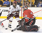 Stephen Gionta, Doug Jewer - The Boston College Eagles defeated the Northeastern University Huskies 5-2 in the opening game of the 2006 Beanpot at TD Banknorth Garden in Boston, MA, on February 6, 2006.
