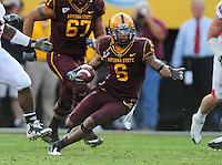 Nov. 28, 2009; Tempe, AZ, USA; Arizona State Sun Devils wide receiver Kyle Williams against the Arizona Wildcats at Sun Devil Stadium. Arizona defeated Arizona State 20-17. Mandatory Credit: Mark J. Rebilas-