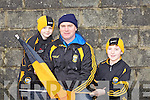 Listowel fans Breine, Bernard and Connor Costello at the North Kerry Senior Football Final between Listowel Emmets and Tarbert held last Sunday in Bob Stack Park, Ballybunion.