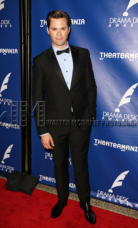 Andrew Rannells attends the 2015 Drama Desk Awards at Town Hall on May 31, 2015 in New York City.