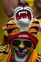 BARRANQUIILLA -COLOMBIA-11-06-2013. Aspecto de los hinchas antes del partido entre Colombia y Perú por la calsificación al Mundial de fútbol de Brasil 2014./ Aspect of the fans before the match between Colombia and Peru for qualification to the World Cup Brazil 2014. Photo: VizzorImage/Alfonso Cervantes/STR