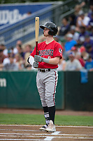 Billings Mustangs designated hitter Cash Case (9) at bat during a Pioneer League game against the Ogden Raptors at Lindquist Field on August 17, 2018 in Ogden, Utah. The Billings Mustangs defeated the Ogden Raptors by a score of 6-3. (Zachary Lucy/Four Seam Images)