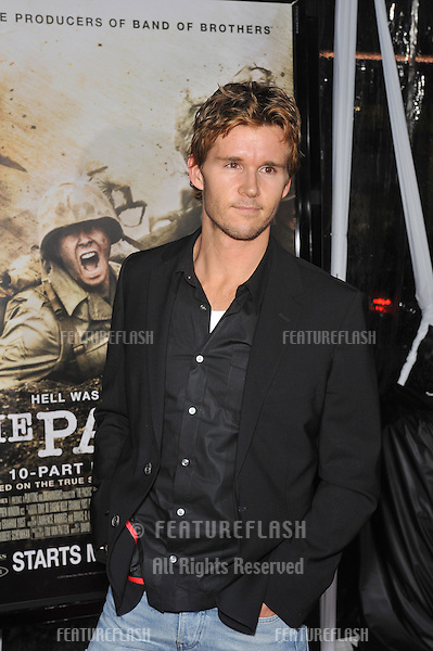 "Ryan Kwanten at the premiere of HBO miniseries ""The Pacific"" at Grauman's Chinese Theatre, Hollywood..February 24, 2010  Los Angeles, CA.Picture: Paul Smith / Featureflash"