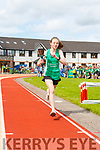 Niamh O'Mahony  St Brendans Oakpark runs around the track with the torch which she lit the  Community Games flame at the games on Saturday