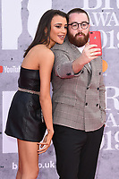 LONDON, UK. February 20, 2019: Daisy Maskell & Tom Green arriving for the BRIT Awards 2019 at the O2 Arena, London.<br /> Picture: Steve Vas/Featureflash<br /> *** EDITORIAL USE ONLY ***