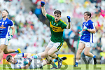 Jack Griffin Kerry celebrates his goal against  Cavan in the All Ireland Minor Semi Final in Croke Park on Sunday.