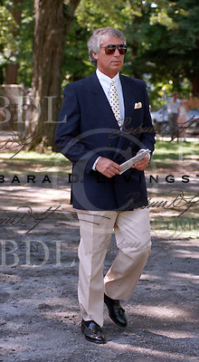 D. Wayne Lukas photographed at Saratoga Race Course during the 1989 meeting
