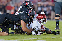 STANFORD, CA - OCTOBER 10, 2014: A.J. Tarpley during Stanford's game against Washington State. The Cardinal defeated the Cougars 34-17.