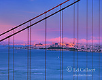 Fog, Sunset, Golden Gate Bridge, San Francisco, California
