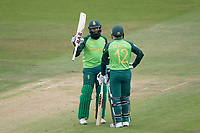 Hashim Amla  (South Africa) acknowledges his half century during South Africa vs West Indies, ICC World Cup Warm-Up Match Cricket at the Bristol County Ground on 26th May 2019