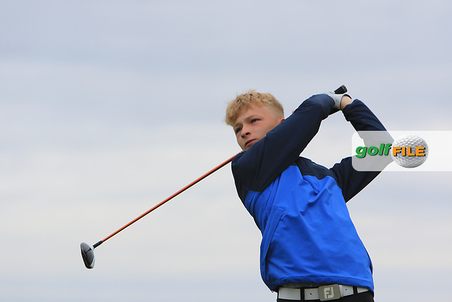 Ewan McArthur (Royal Portrush) during Round 2 of the North of Ireland Amateur Open Championship 2019 at Portstewart Golf Club, Portstewart, Co. Antrim on Tuesday 9th July 2019.<br /> Picture:  Thos Caffrey / Golffile<br /> <br /> All photos usage must carry mandatory copyright credit (© Golffile | Thos Caffrey)