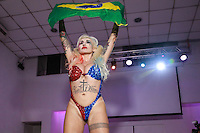 SÃO PAULO, SP, 10.11.2015 - Sabrina Boing Boing, representante do Rio Grande do Sul durante a quinta edição do concurso Miss Bumbum no bairro de Perdizes na região oeste da cidade de São Paulo na noite de ontem segunda-feira, 09. (Foto: William Volcov/Brazil Photo Press)