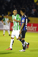 QUITO - ECUADOR - 20-07-2016: Orlando Berrio, jugador de Atletico Nacional de Colombia, celebra el gol anotado a Independiente Del Valle de Ecuador, durante partido de ida por la final, entre Independiente Del Valle y Atletico Nacional por la Copa Bridgestone Libertadores 2016 en el Estadio Atahualpa, de la ciudad de Quito. / Orlando Berrio, player of Atletico Nacional of Colombia, celebrates the goal scored against Independiente Del Valle of Ecuador, during a match for the first leg for the final between Independiente Del Valle and Atletico Nacional for the Bridgestone Libertadores Cup 2016, in the Atahualpa Stadium, in Quito city. Photo: VizzorImage /API FOTO /  Cont.