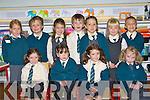Emma Casey, Amy Clifford-Warren, Alice Casey, Shauna McCarthy. Back row: Aine Scott, Peader Whelan, Niamh Denham, Daire McCarthy, Ellen Mackessy, Sarah Leane and Dariusz Diebler